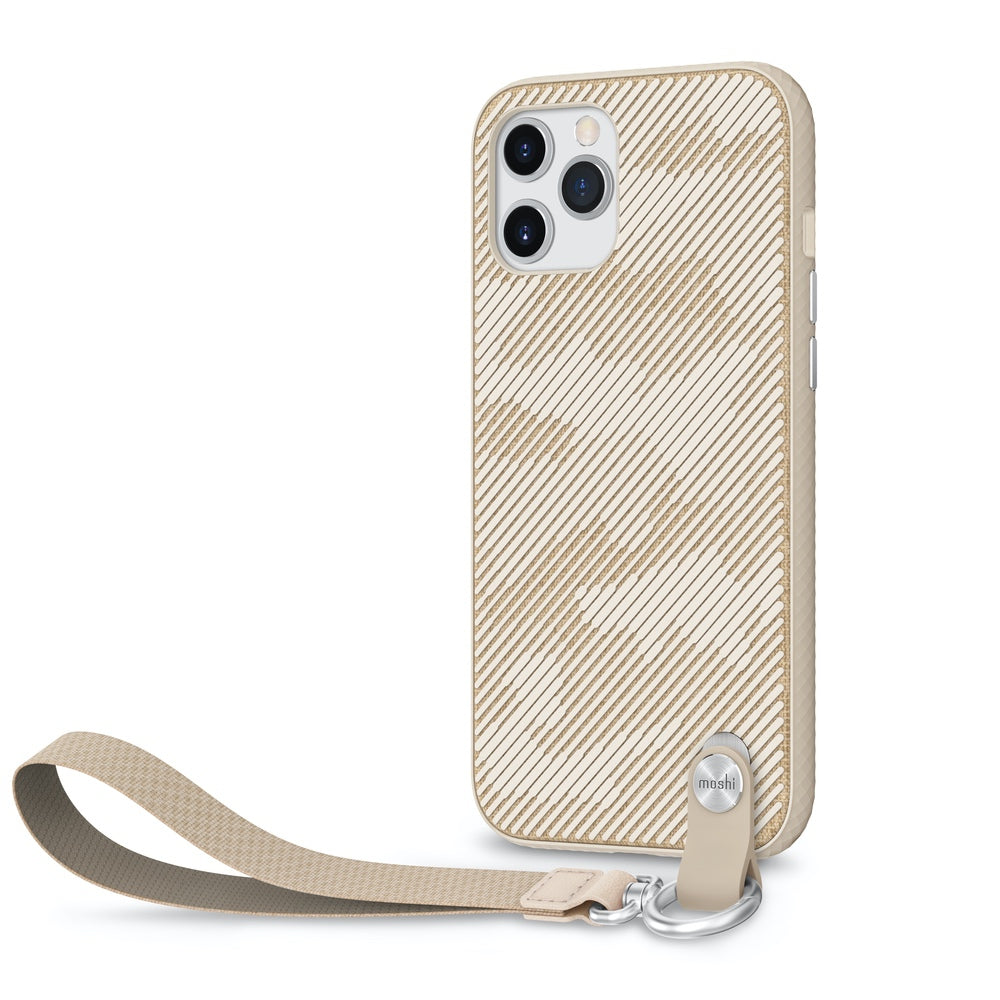 Moshi Altra Case w/ Wrist Strap For iPhone 12 Pro Max - Sahara Beige