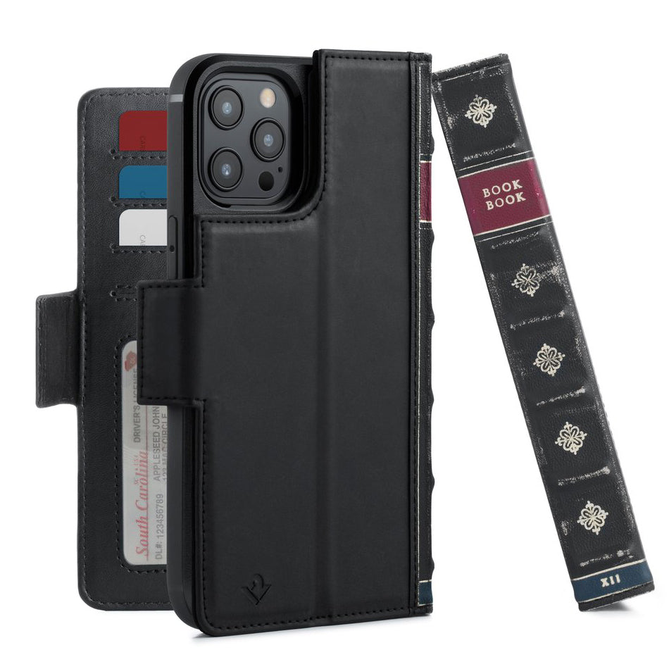 Twelve South BookBook Vol. 2 Leather Wallet Case For iPhone 12 Pro Max - Black