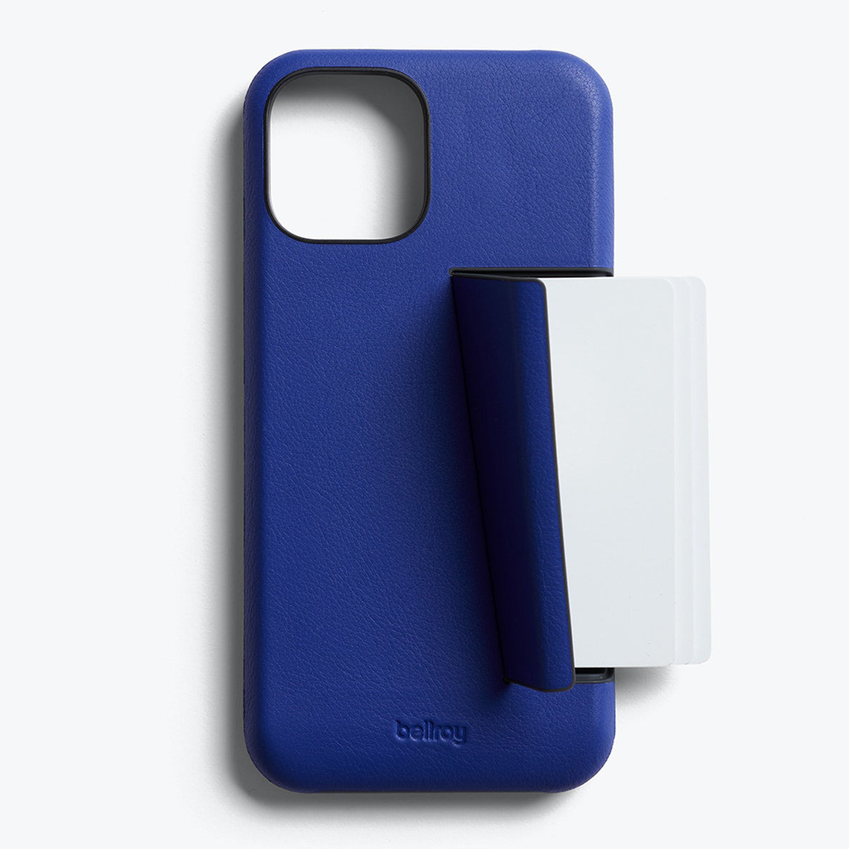 Bellroy 3-Card Genuine Leather Wallet Case For iPhone iPhone 12 Pro Max - COBALT