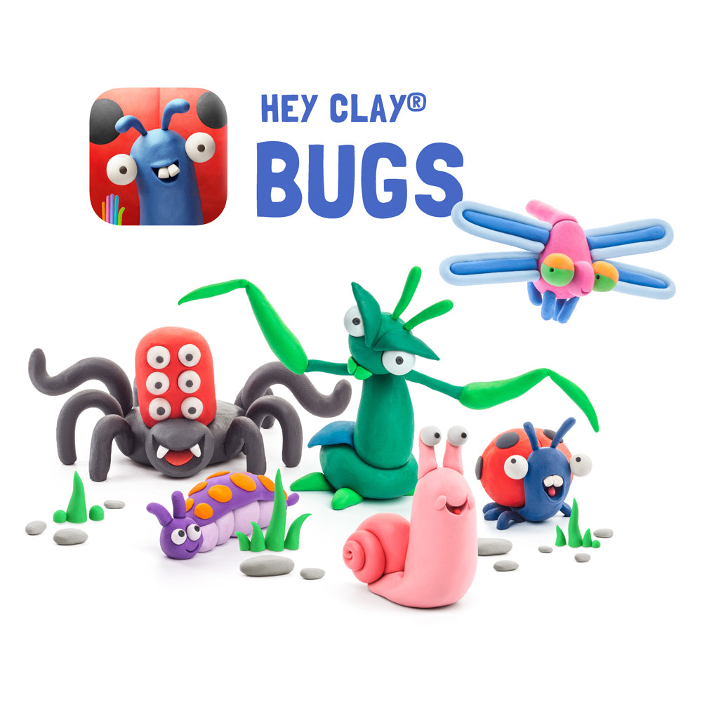 Hey Clay Air-Dry Modelling Clay - Bugs