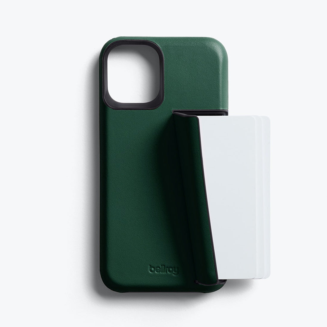 Bellroy 3-Card Genuine Leather Wallet Case For iPhone iPhone 12 mini - RACING GREEN