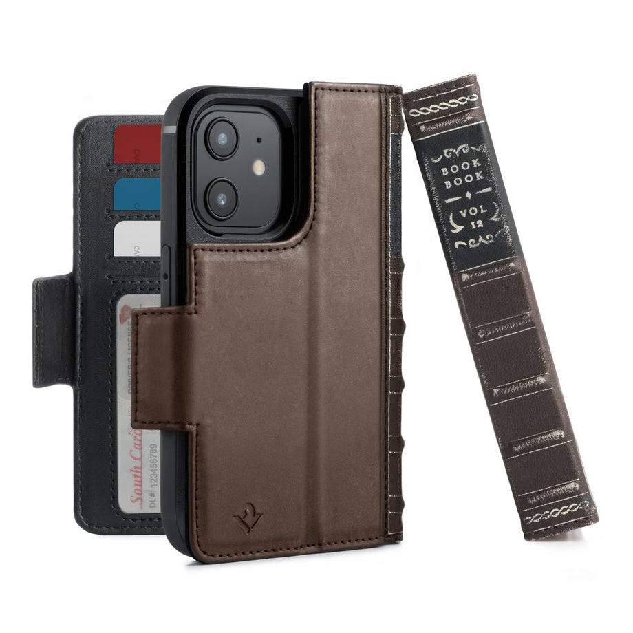 Twelve South BookBook Vol. 2 Leather Wallet Case For iPhone 12 mini - Brown