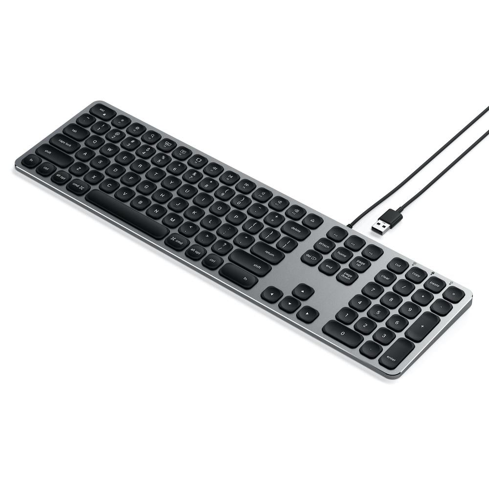 Satechi Wired Aluminium Keyboard w/ Numeric Pad For iMac & MacBook