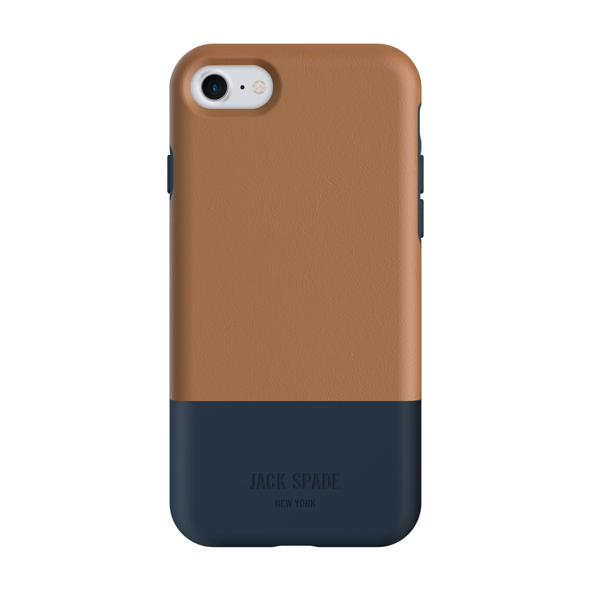 brand new 53696 1077b Jack Spade Color-Block Case For iPhone 8/7 - Tan/Navy
