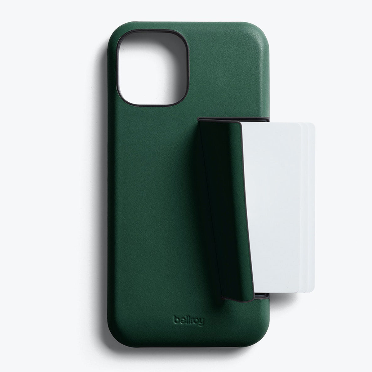 Bellroy 3-Card Genuine Leather Wallet Case For iPhone iPhone 12 Pro Max - RACING GREEN