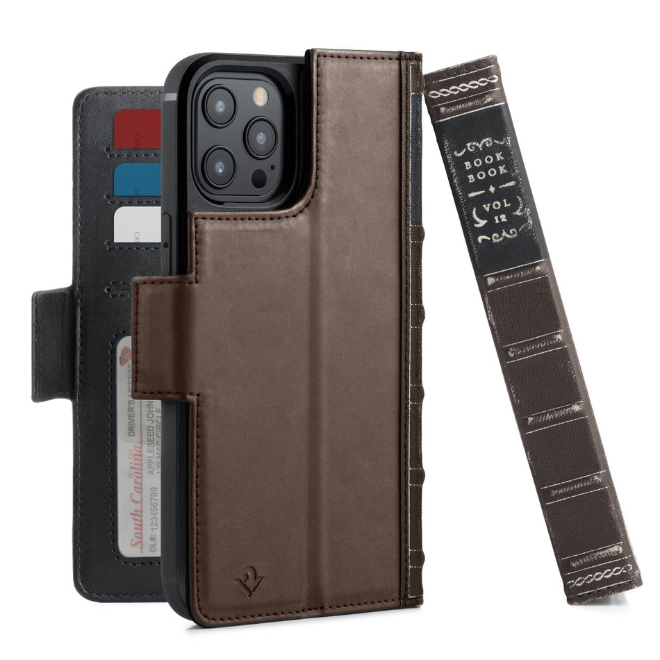 Twelve South BookBook Vol. 2 Leather Wallet Case For iPhone 12 Pro Max - Brown