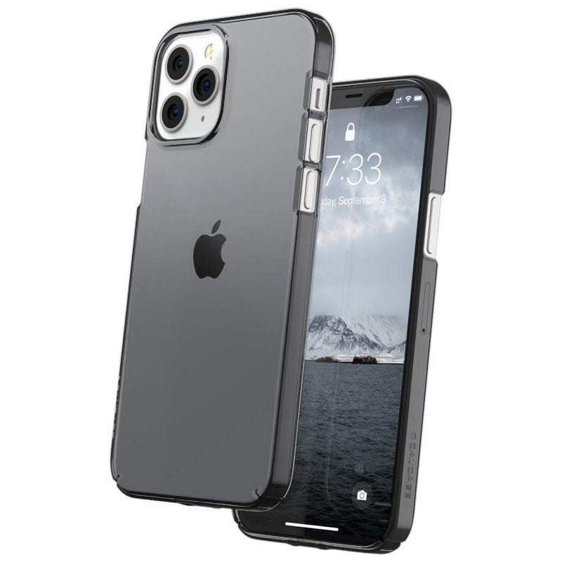 Caudabe Lucid Clear Minimalist Case For iPhone iPhone 12 Pro Max - GRAPHITE