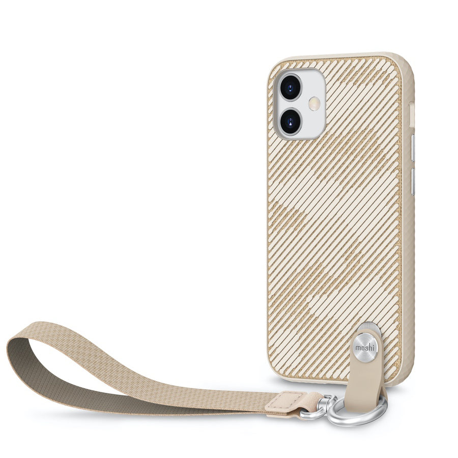 Moshi Altra Case w/ Wrist Strap For iPhone 12 mini - Sahara Beige