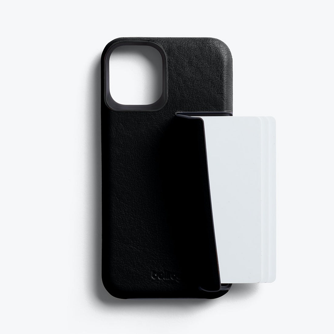 Bellroy 3-Card Genuine Leather Wallet Case For iPhone iPhone 12 mini - BLACK