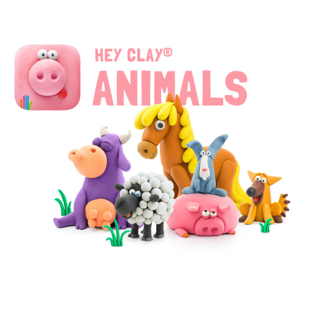 Hey Clay Air-Dry Modelling Clay - Animals