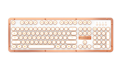 AZIO Retro Classic Luxury Vintage Mechanical Bluetooth Keyboard For Mac / PC - Macintosh Addict