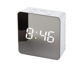 Digital LED multi-function mirror clock