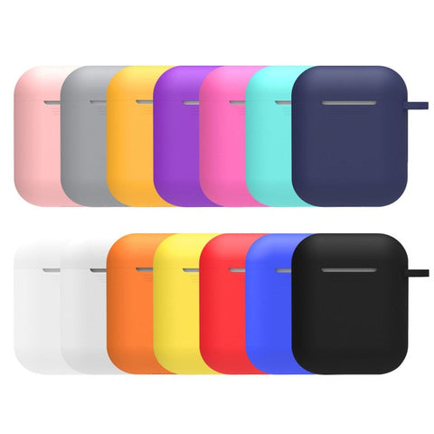 Airpods Case Cover Multiple Colour Anti-lost and Drop Hook Cover