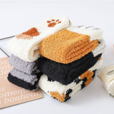 1 Pair Winter Cat Claws Cute Thick Warm Sleep Floor Socks