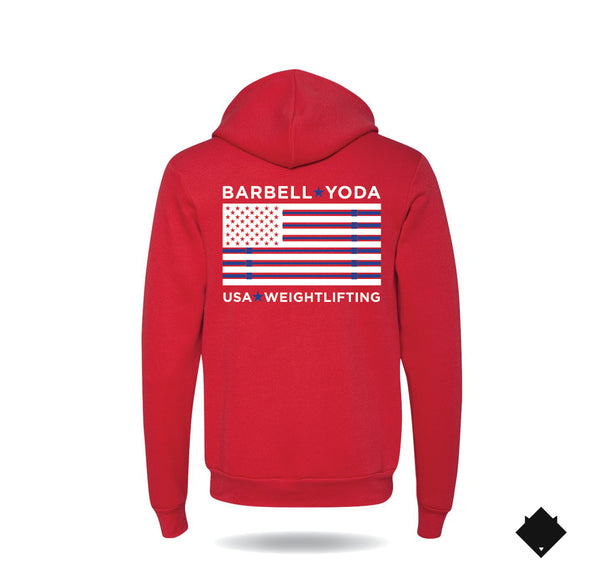 Unisex Pullover Hoodie Red