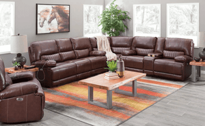 DeMarco Power Reclining Leather Sectional