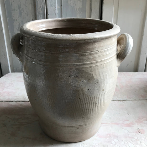 Large Grey Confit Pot