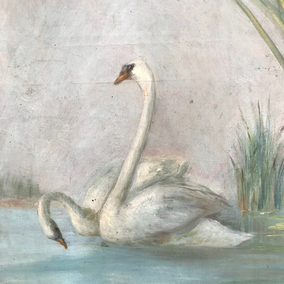 Painting of Swans on a lake