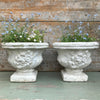 White French Garden Planters