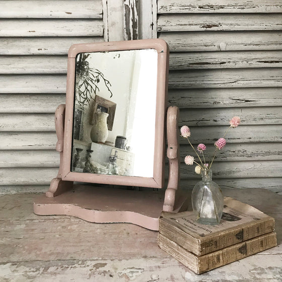 Pink dressing table mirror