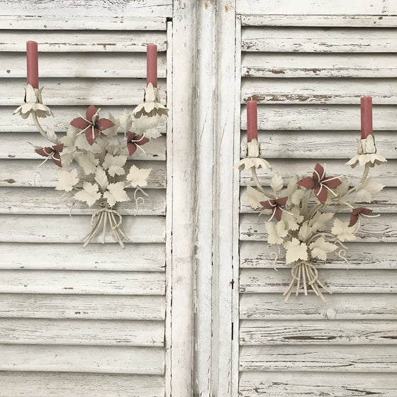 Pair of French Painted Candelabra