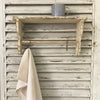 Rustic shelf with rail