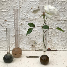 Bubble glass bud vases