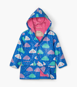 Hatley Cheerful Clouds Colour Changing Raincoat