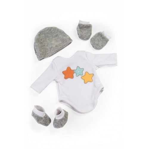 Miniland Clothing Layette Body Suit and Accessories, (38-42 cm Doll)