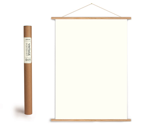 Wooden Poster Hanger Kit - Vertical