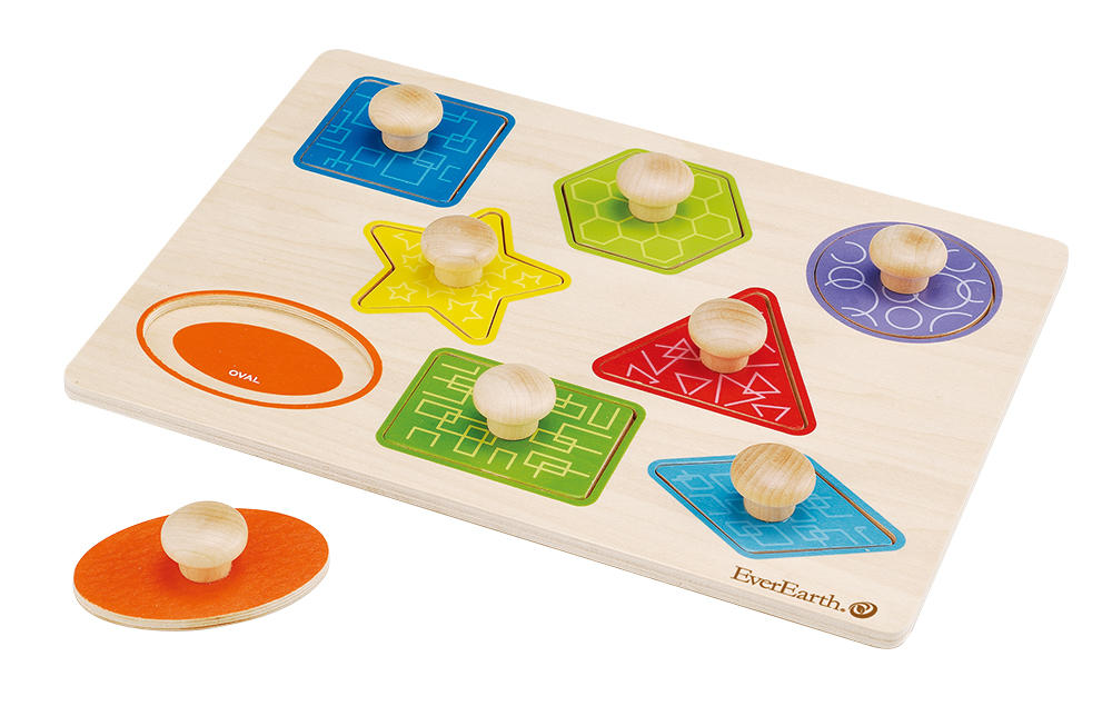 EverEarth Educational Pull Out Shape Puzzle