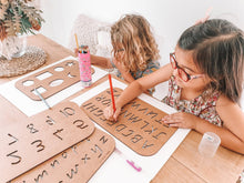 Load image into Gallery viewer, Wooden Lowercase Alphabet Stencil