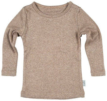 Load image into Gallery viewer, Toshi Organic Tee Long Sleeve Dreamtime Cocoa