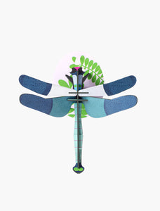 Studio Roof Wall Art Puzzle - Blue Dragonfly