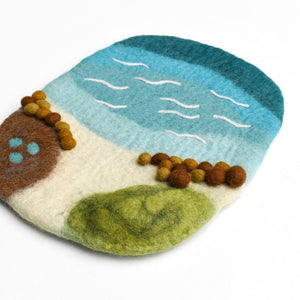 Sea, Beach And Rockpool Play Mat Playscape