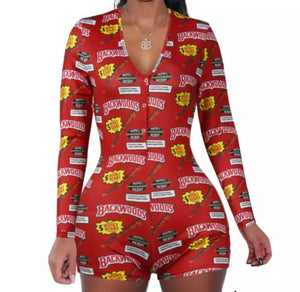 Amg Women's BackWood Onesie Red