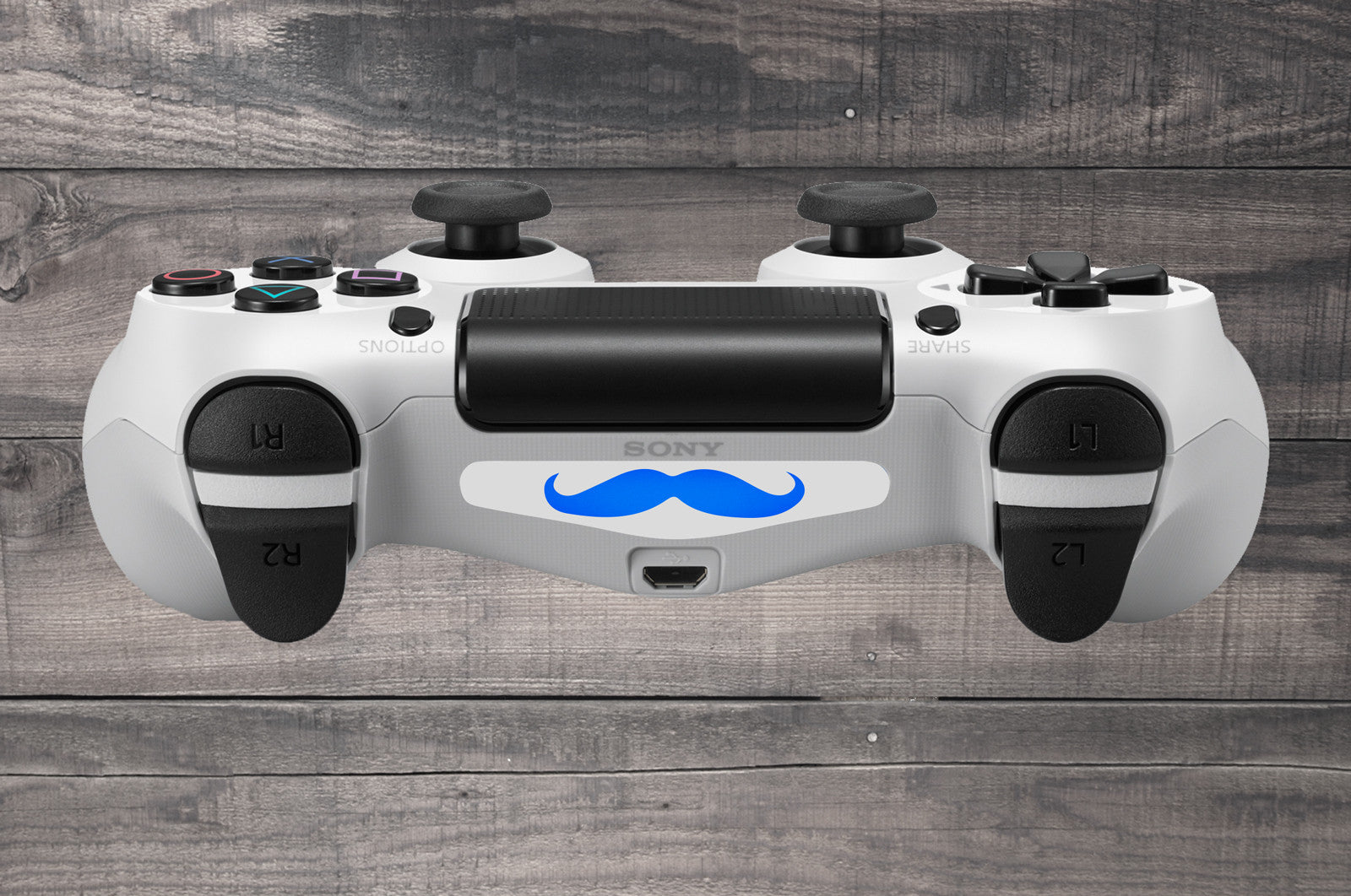 Moustache playstation 4 ps4 dual shock controller light bar moustache ps4 dual shock controller light bar decal white aloadofball