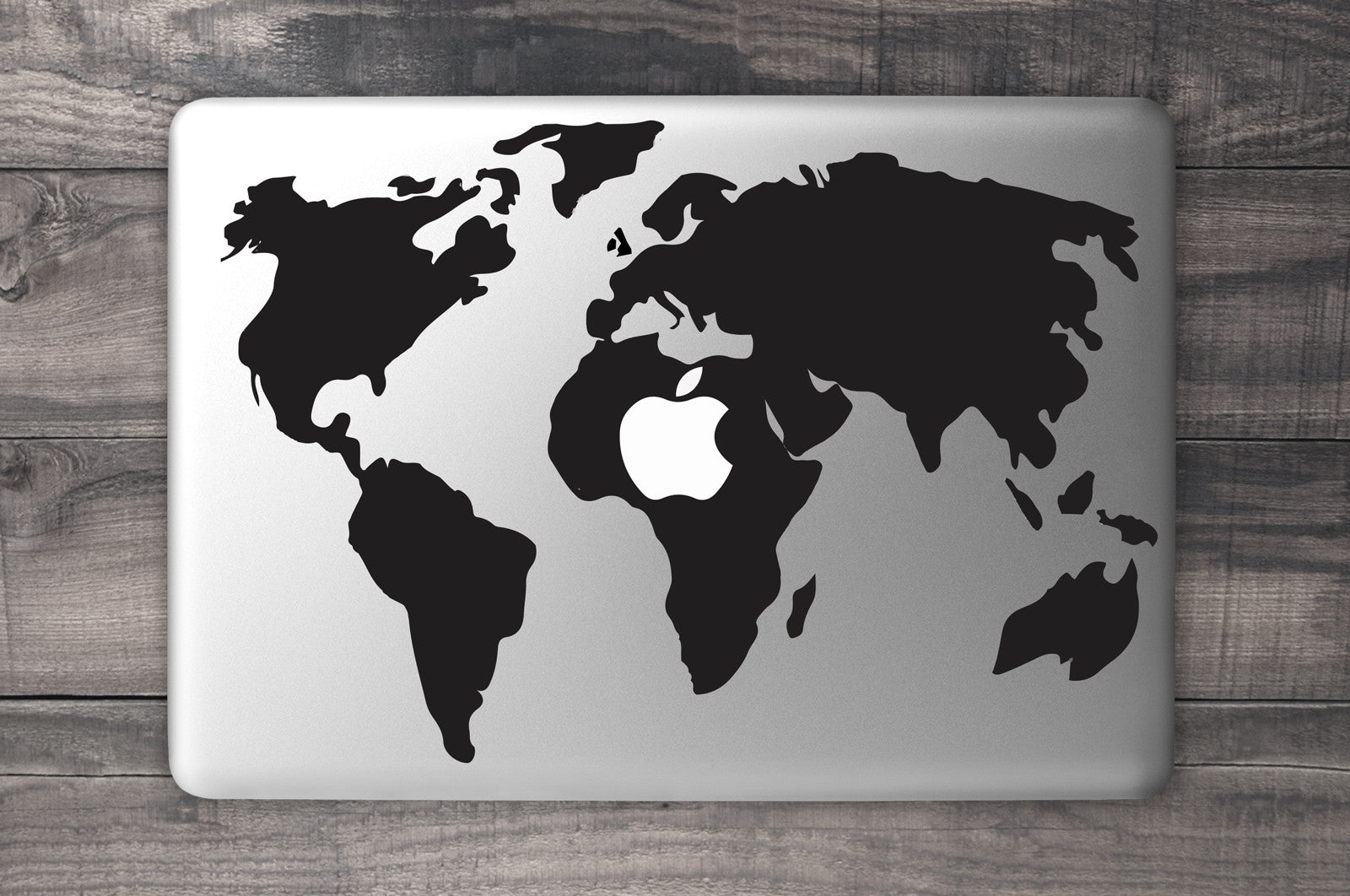 World map macbook decal vinyl infusion vinyl infusion world map macbook decal black gumiabroncs Image collections