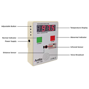 Wall Mount Body Temperature Measurement