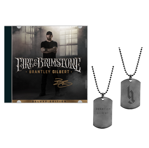 Signed Fire & Brimstone Deluxe CD + Dog Tag