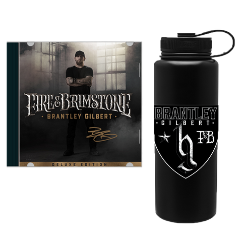Signed Fire & Brimstone Deluxe CD + Water Bottle