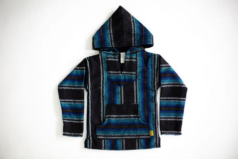 Little Poncho Hoodies- Blue