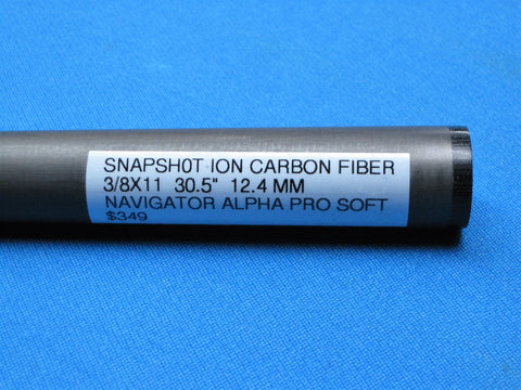"SNAPSHOT® ION CARBON FIBER SHAFT- 3/8"" x 11 JOINT, 30 1/2"" LONG, NAVIGATOR ALPHA PRO SOFT TIP"