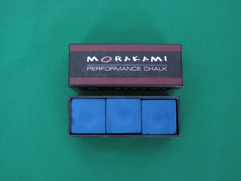 MORAKAMI BLUE PERFORMANCE BILLIARD CHALK