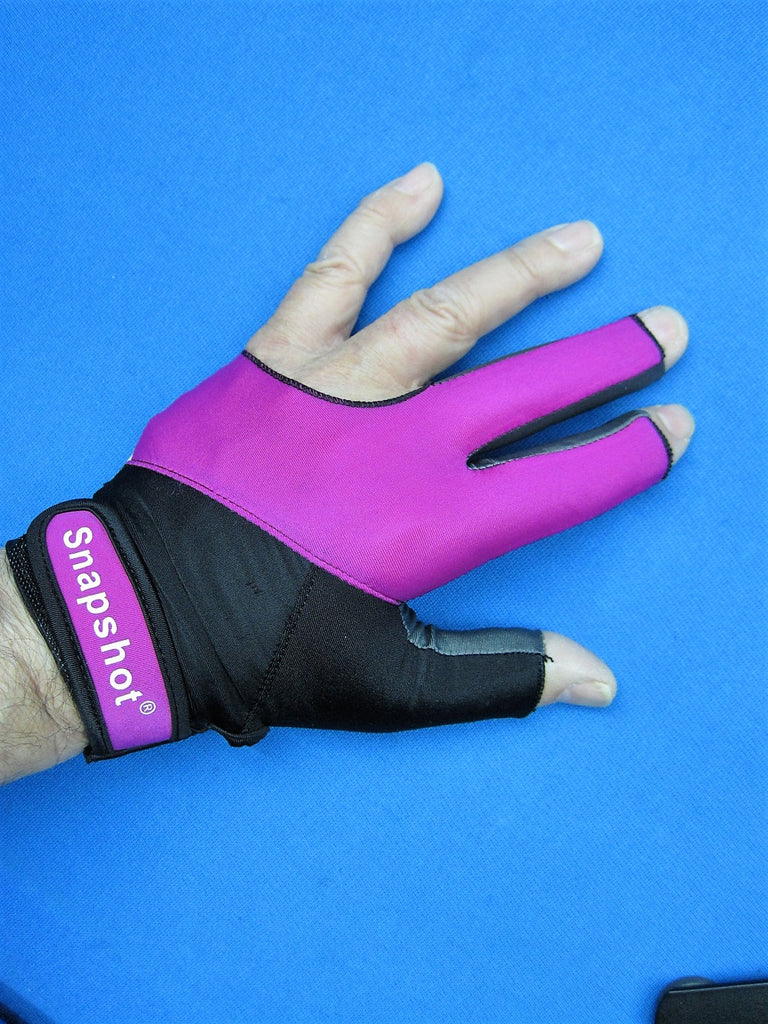 NEW! PINK/BLACK SNAPSHOT® PRO SERIES BILLIARD GLOVE-LEFT OR RIGHT HAND