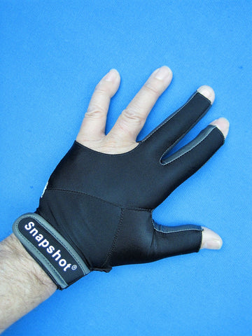 NEW! BLACK SNAPSHOT® PRO SERIES BILLIARD GLOVE-LEFT OR RIGHT HAND