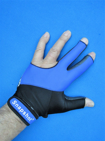 NEW! BLUE/BLACK SNAPSHOT® PRO SERIES BILLIARD GLOVE-LEFT OR RIGHT HAND
