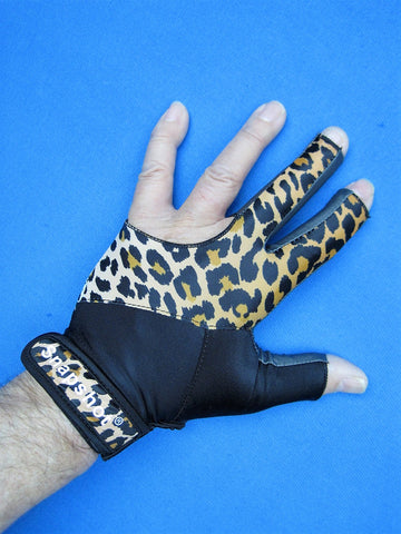 NEW! LEOPARD/BLACK SNAPSHOT® PRO SERIES BILLIARD GLOVE-LEFT OR RIGHT HAND