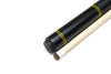 NEW! DELTA MB-2 EBONY 6 POINT 2 PIECE CUE W/MATCHING JOINT PROTECTORS 20 oz