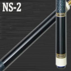 NEW! DELTA NS-2 EBONY WOOD 2 PIECE CUE W/MATCHING JOINT PROTECTORS 21 oz
